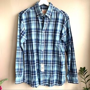 Brooks Brothers blue plaid  button down NWT